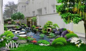 mẫu thiết kế hồ cá Koi đẹp